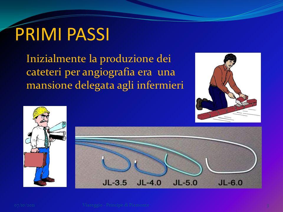 PRIMI PASSI Inizialmente la produzione dei cateteri per angiografia era una mansione delegata agli infermieri.