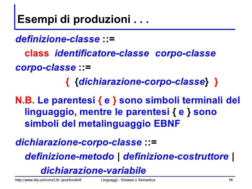 Linguaggi - Sintassi e Semantica