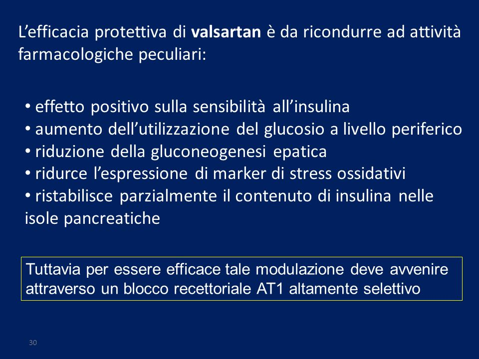 effetto positivo sulla sensibilità all'insulina