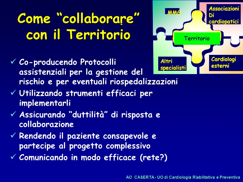 Come collaborare con il Territorio