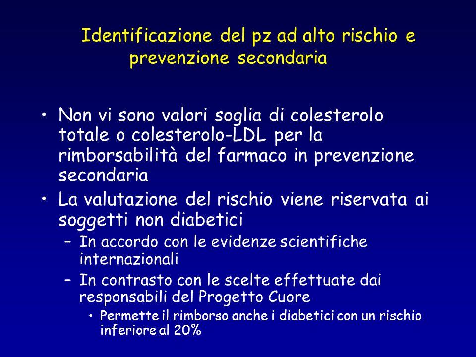 Identificazione del pz ad alto rischio e prevenzione secondaria