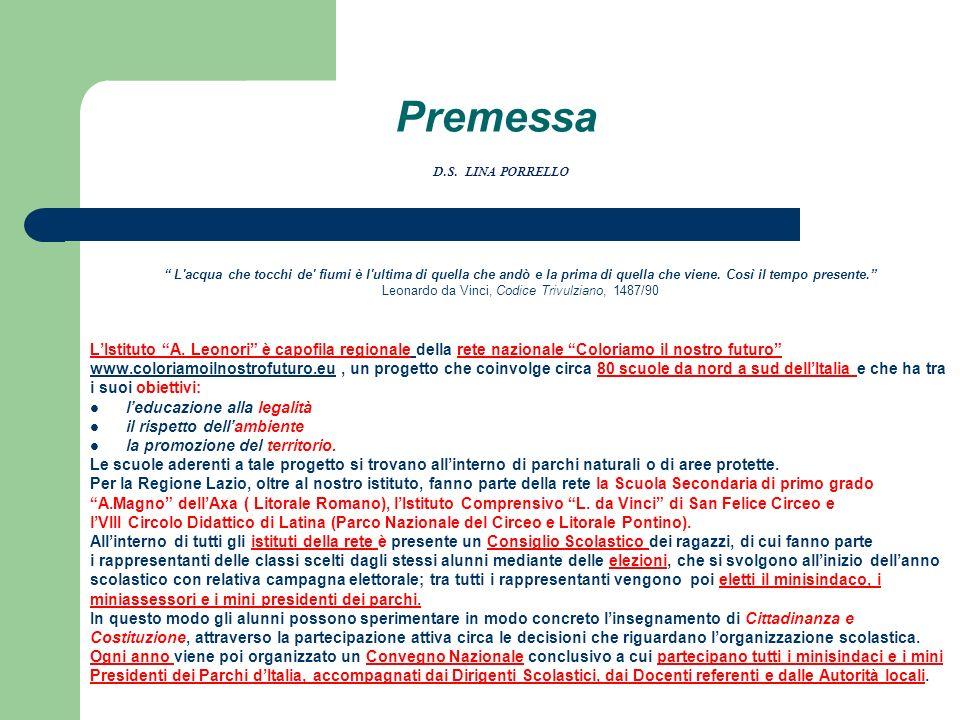 Premessa D.S. LINA PORRELLO