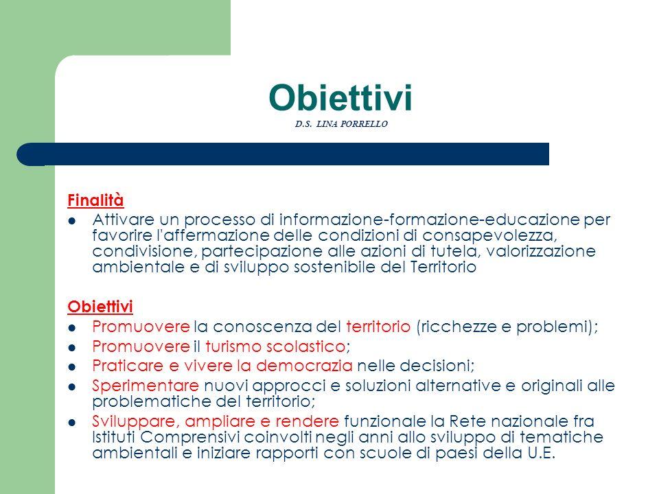 Obiettivi D.S. LINA PORRELLO