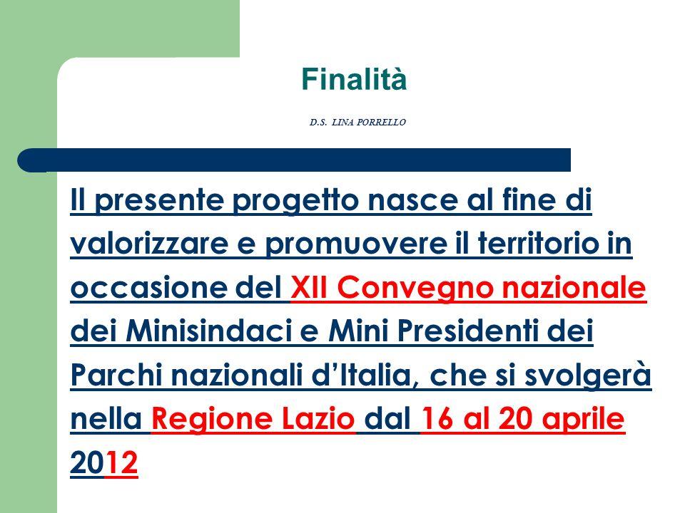 Finalità D.S. LINA PORRELLO