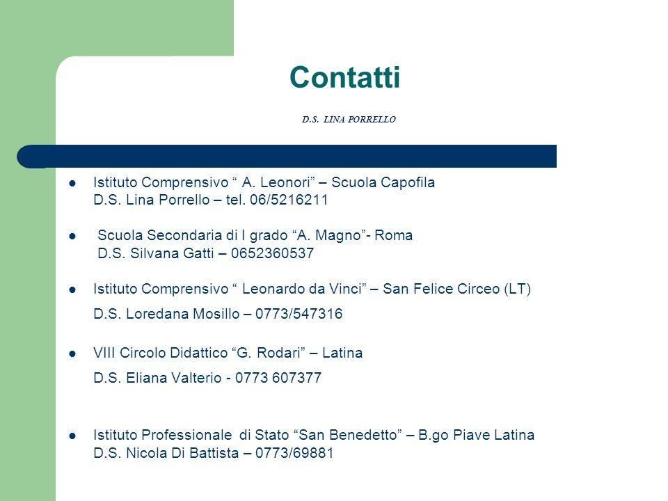 Contatti D.S. LINA PORRELLO