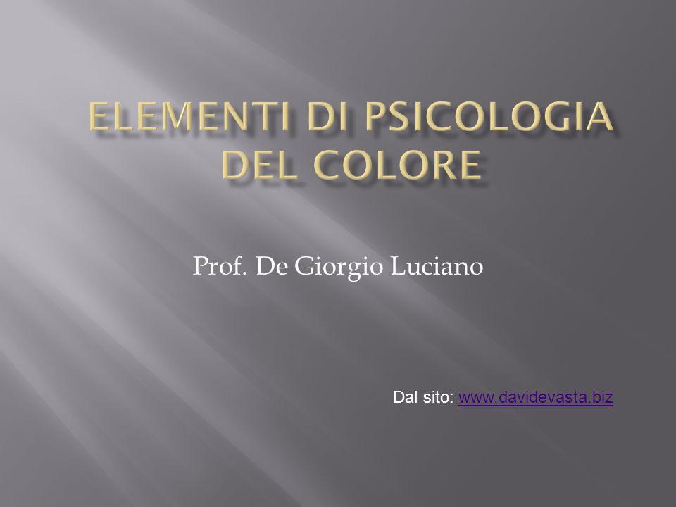 Elementi di psicologia del colore