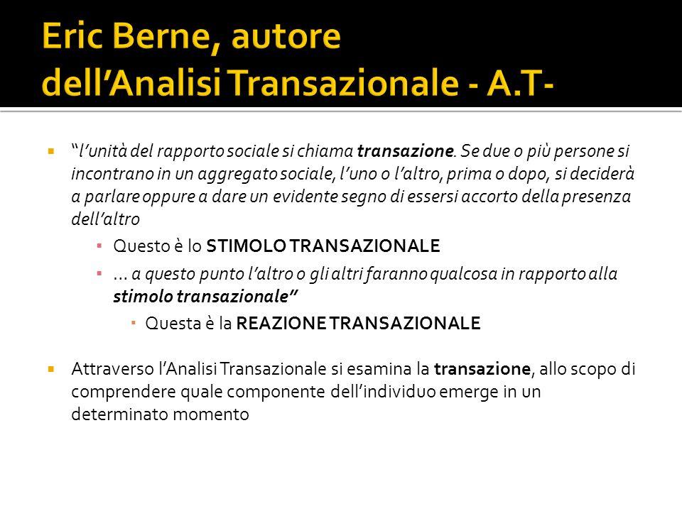 Eric Berne, autore dell'Analisi Transazionale - A.T-