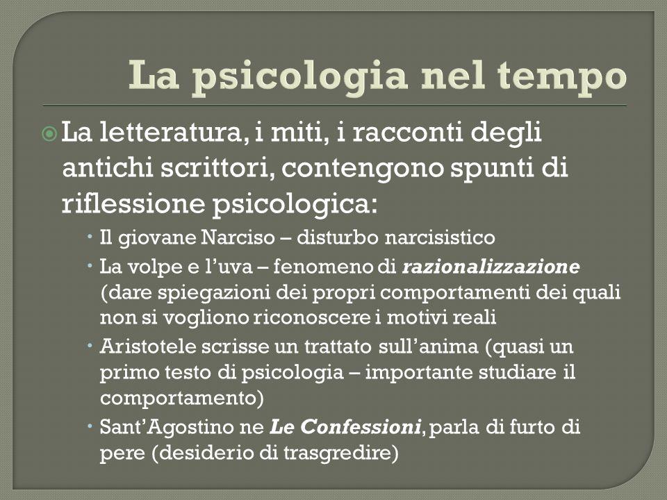 La psicologia nel tempo