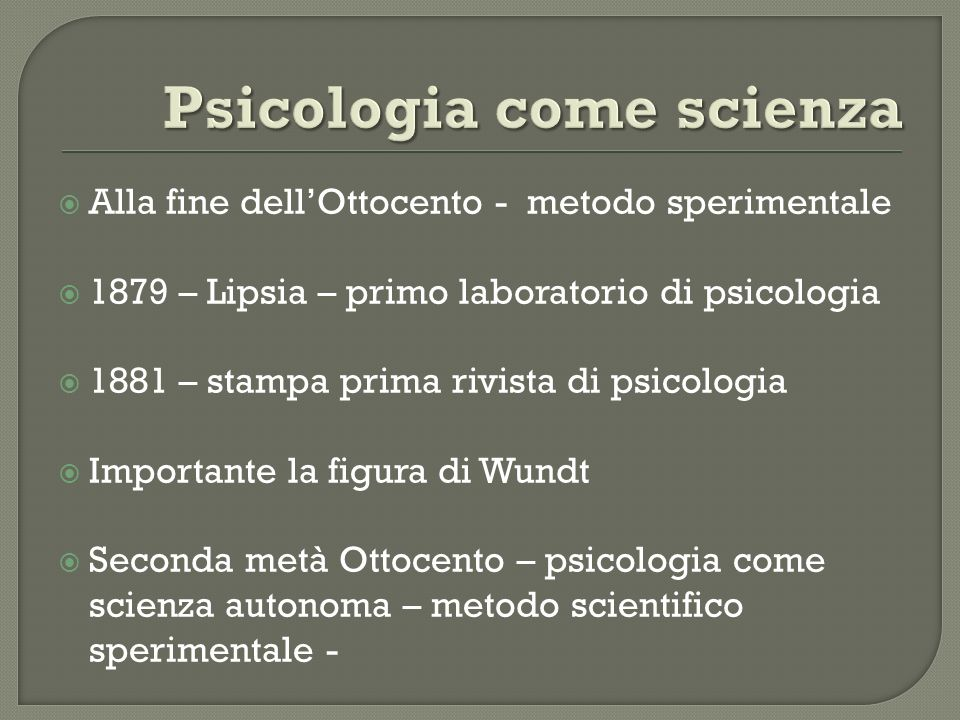 Psicologia come scienza