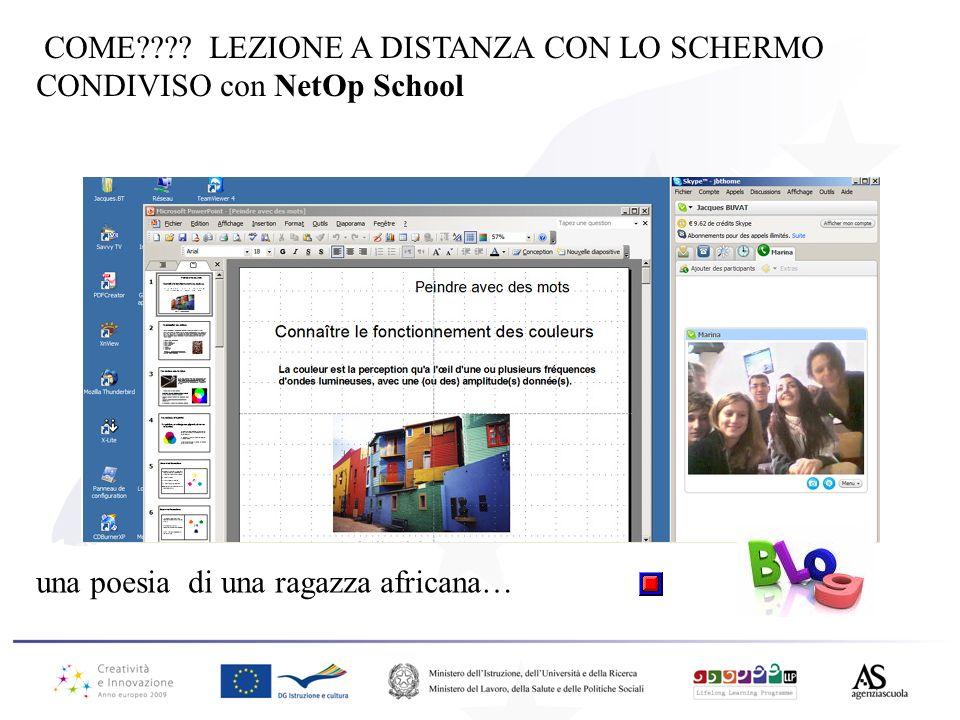 COME LEZIONE A DISTANZA CON LO SCHERMO CONDIVISO con NetOp School