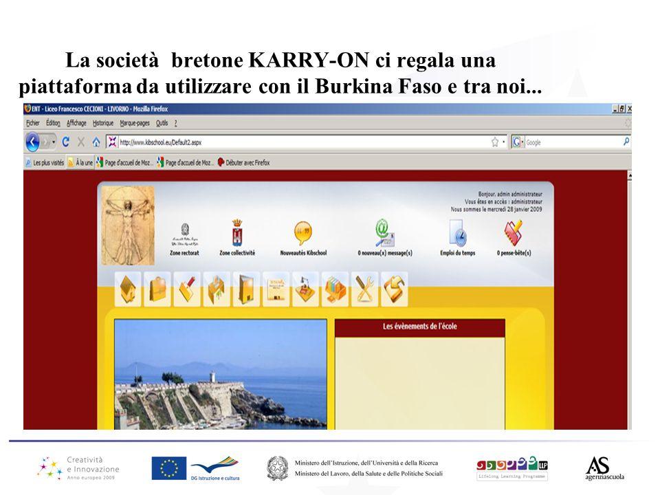 La società bretone KARRY-ON ci regala una piattaforma da utilizzare con il Burkina Faso e tra noi...