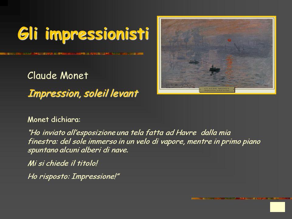 Gli impressionisti Claude Monet Impression, soleil levant