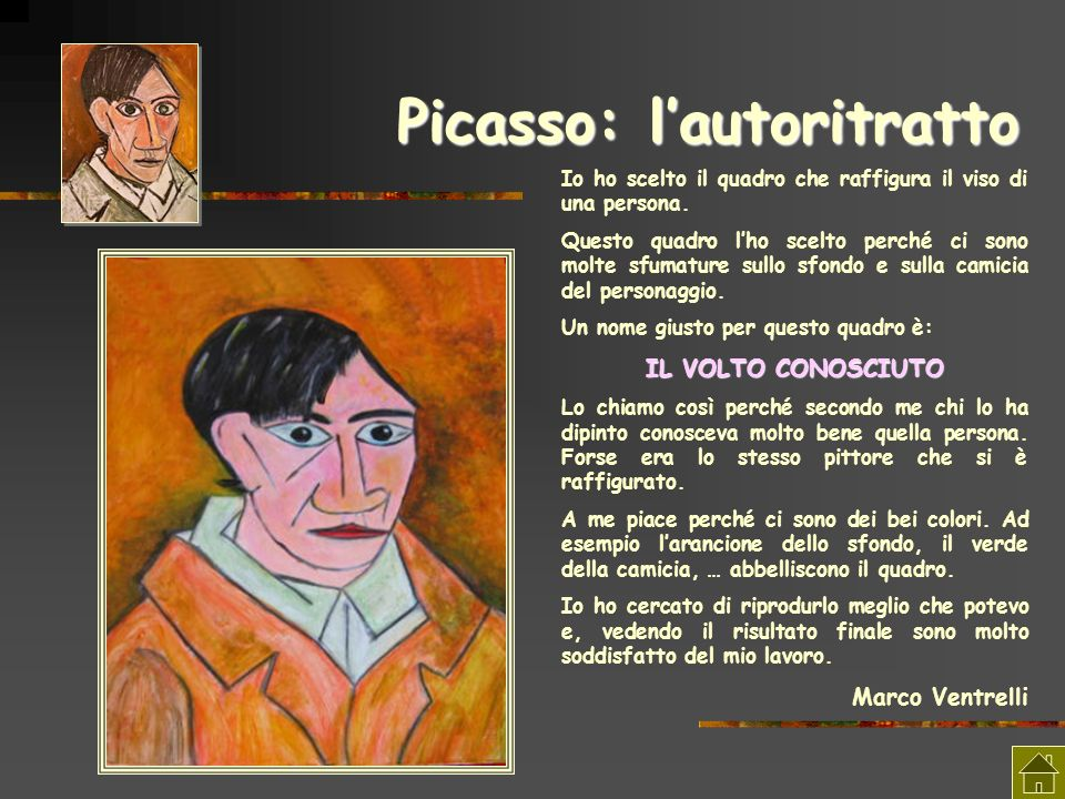 Picasso: l'autoritratto
