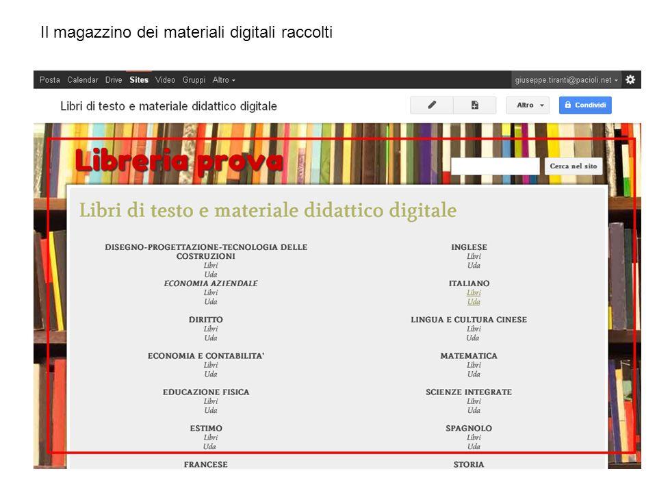 Il magazzino dei materiali digitali raccolti