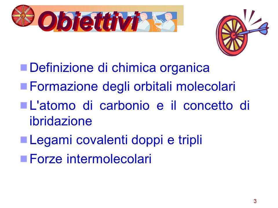 Obiettivi Definizione di chimica organica