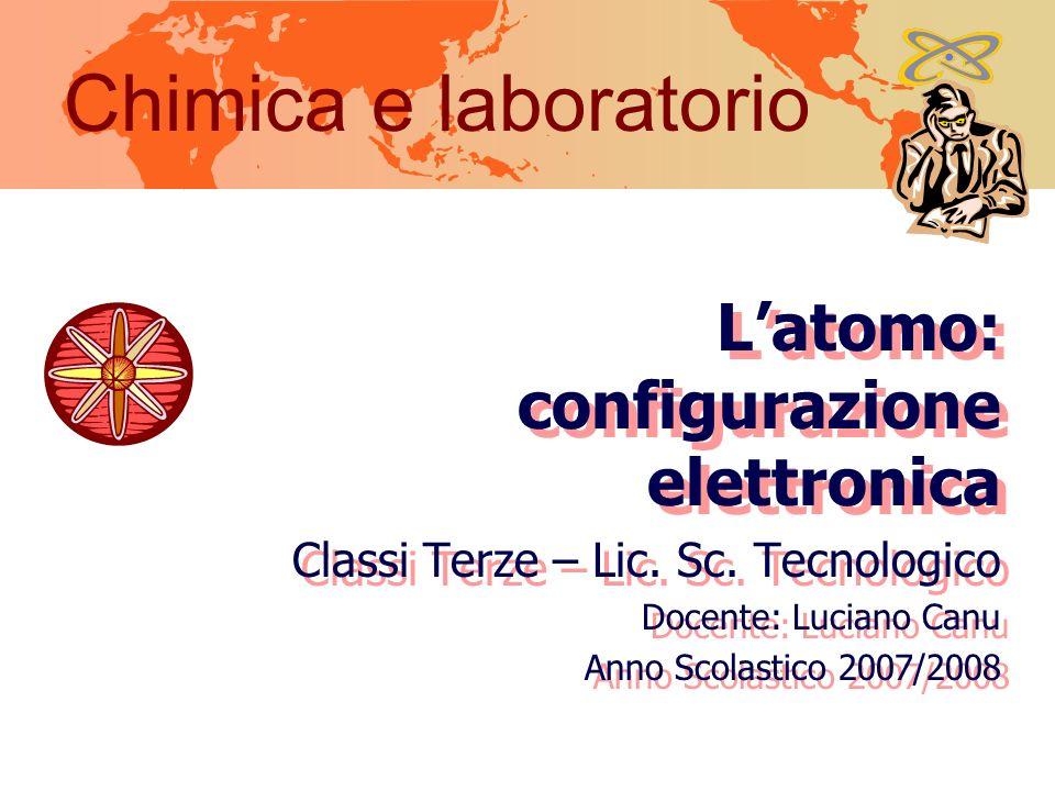 Chimica e laboratorio L'atomo: configurazione elettronica