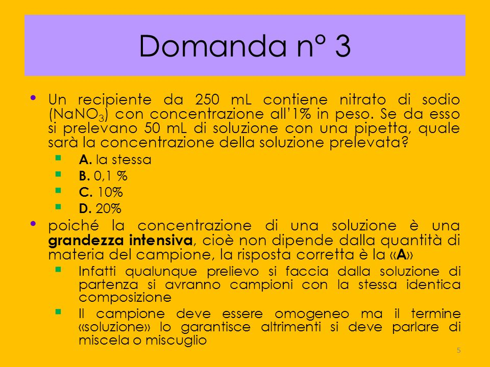 Domanda n° 3