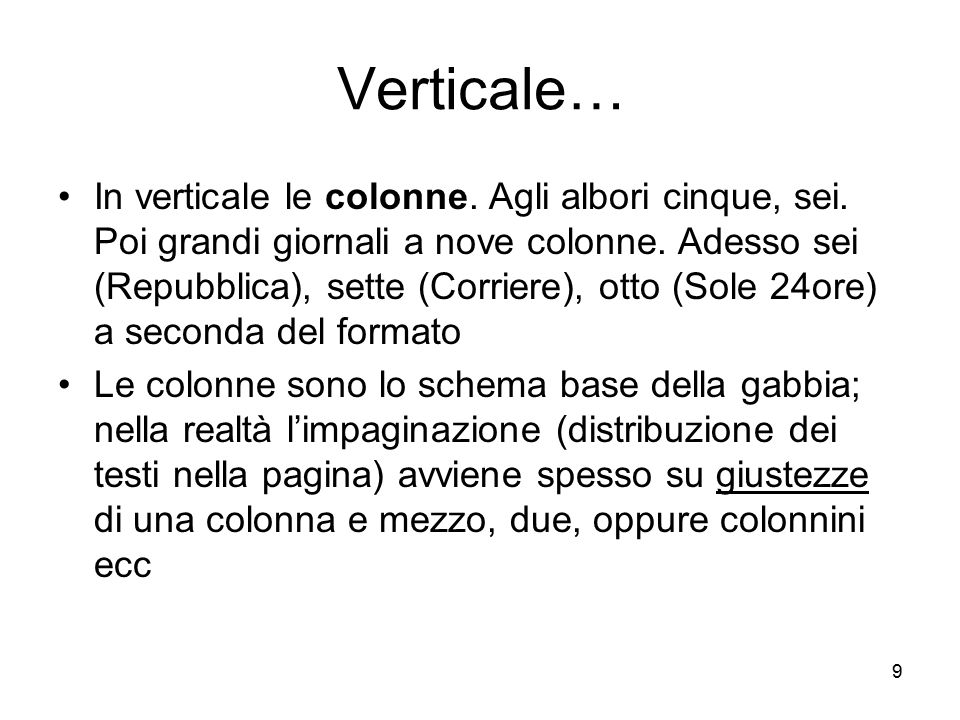 Verticale…