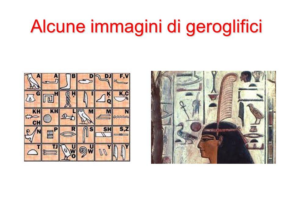 Alcune immagini di geroglifici