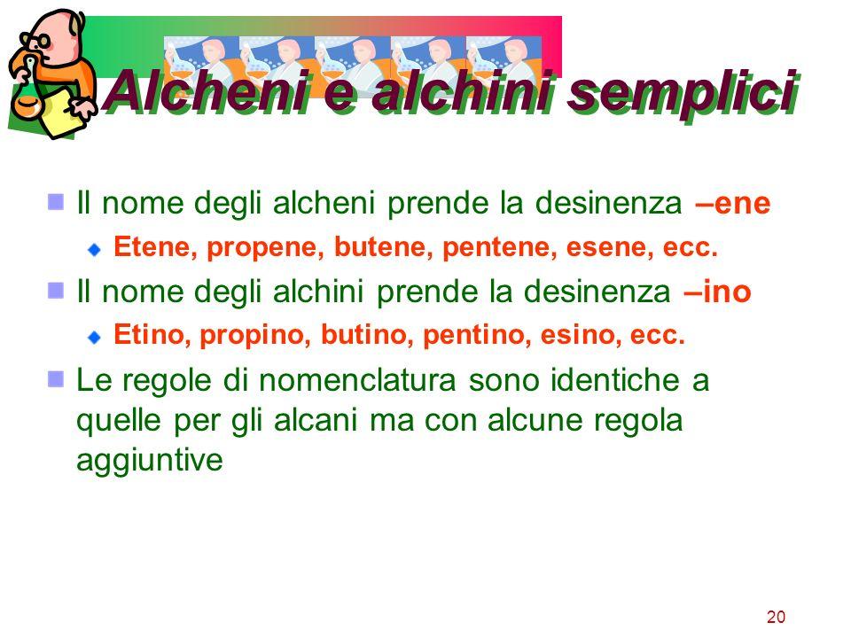 Alcheni e alchini semplici