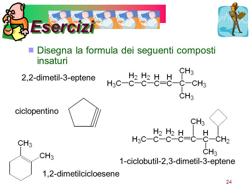 Esercizi Disegna la formula dei seguenti composti insaturi