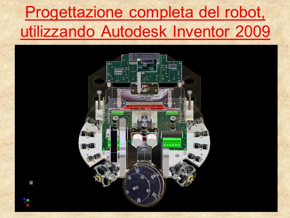 Progettazione completa del robot, utilizzando Autodesk Inventor 2009