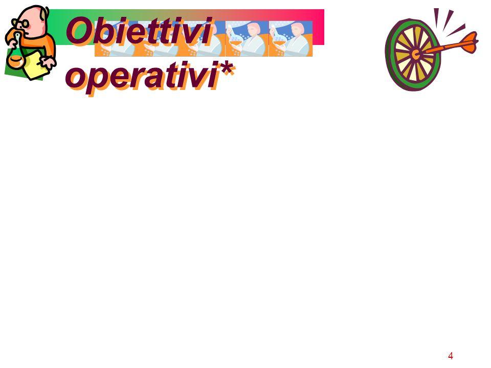 Obiettivi operativi*