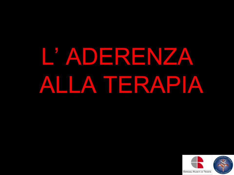 L' ADERENZA ALLA TERAPIA
