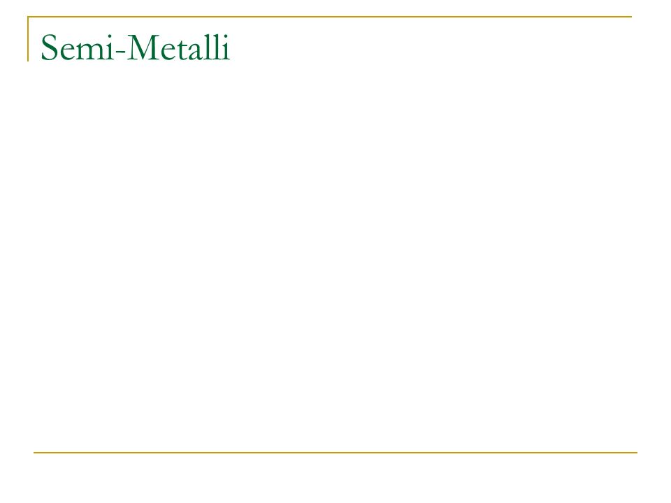 Semi-Metalli