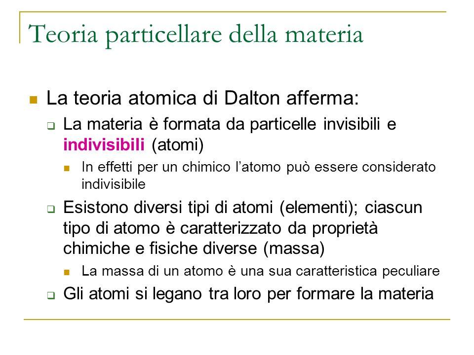 Teoria particellare della materia