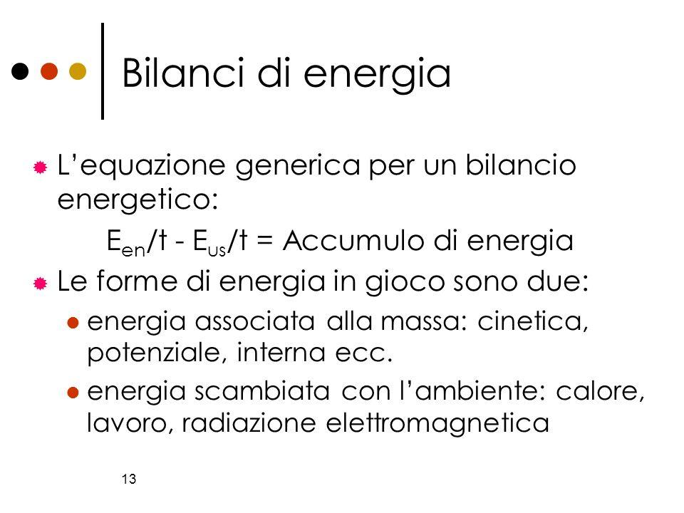 Een/t - Eus/t = Accumulo di energia