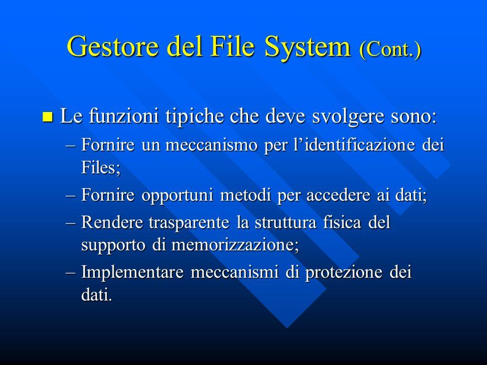Gestore del File System (Cont.)