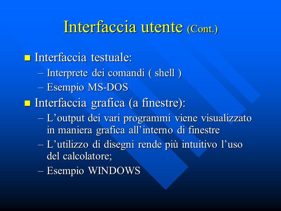 Interfaccia utente (Cont.)