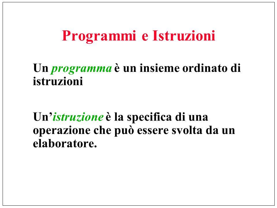 Programmi e Istruzioni