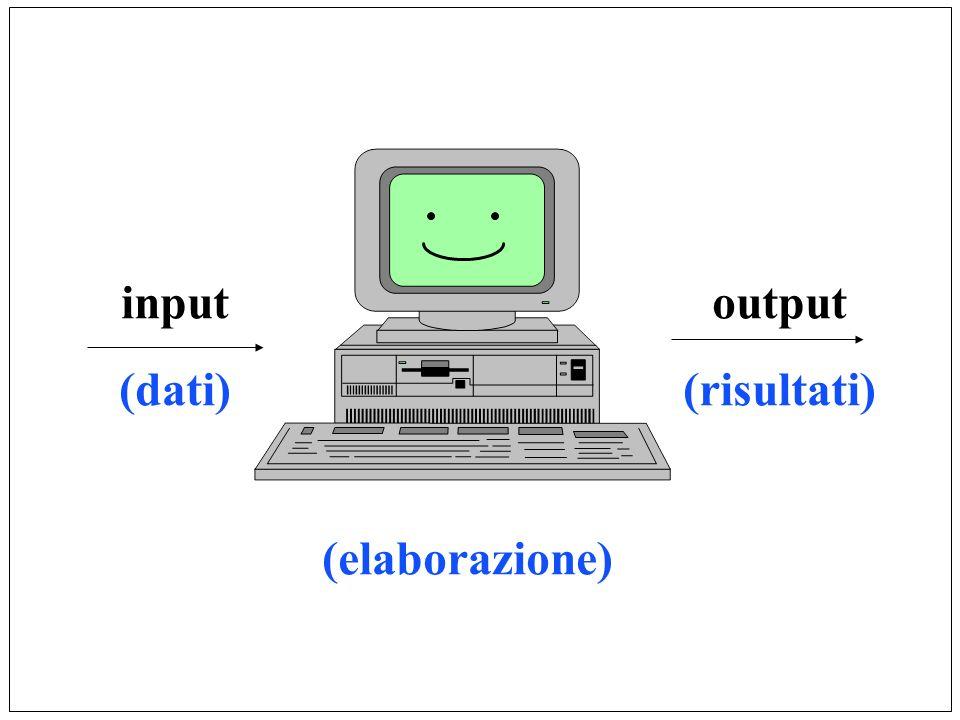 input (dati) output (risultati) (elaborazione)