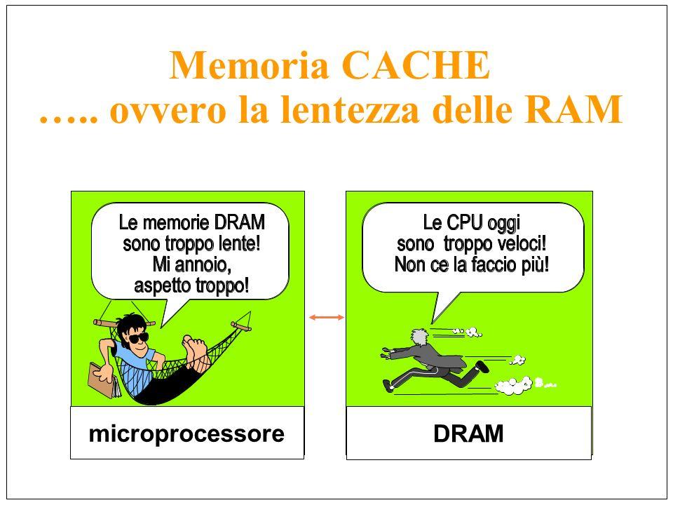Memoria CACHE ….. ovvero la lentezza delle RAM