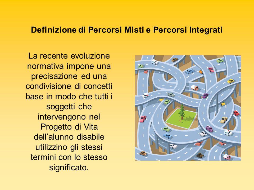 Definizione di Percorsi Misti e Percorsi Integrati