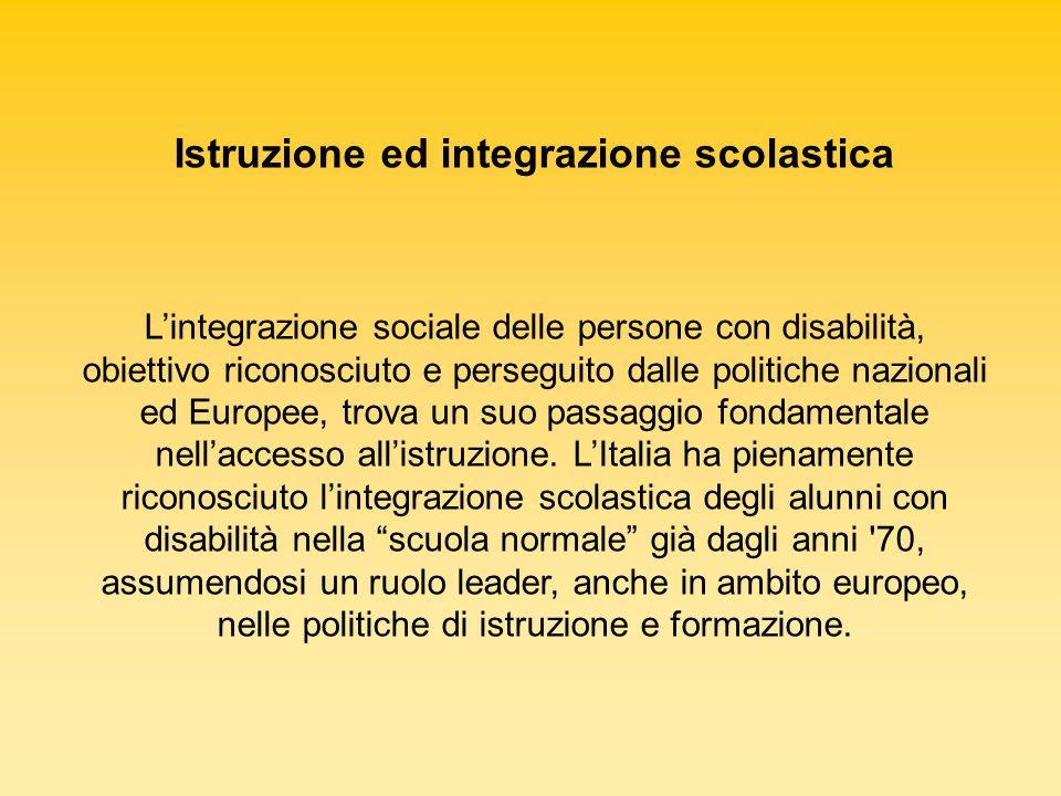 Istruzione ed integrazione scolastica