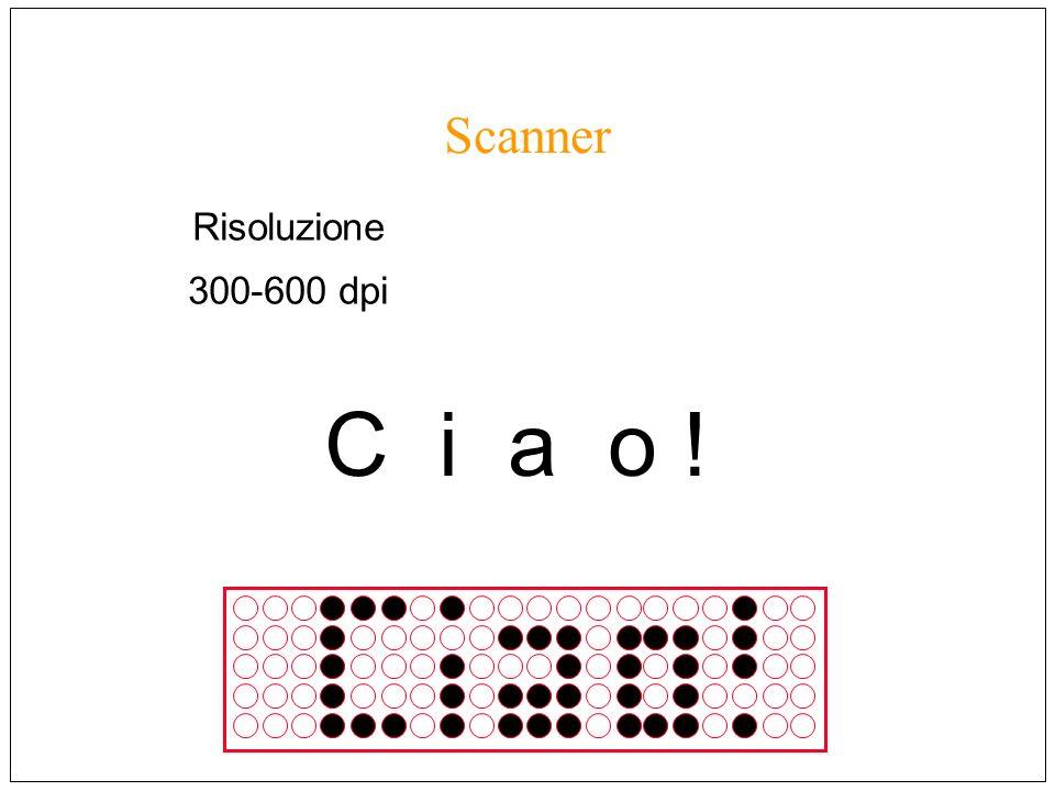 Scanner Risoluzione 300-600 dpi C i a o !