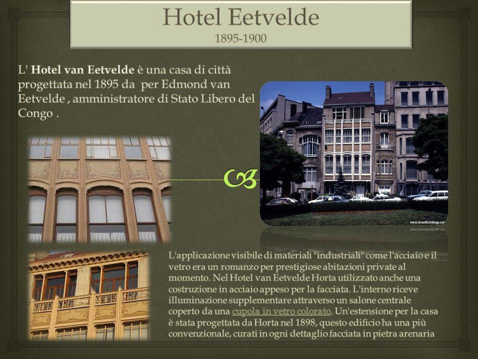 Hotel Eetvelde 1895-1900. 1895-1900.