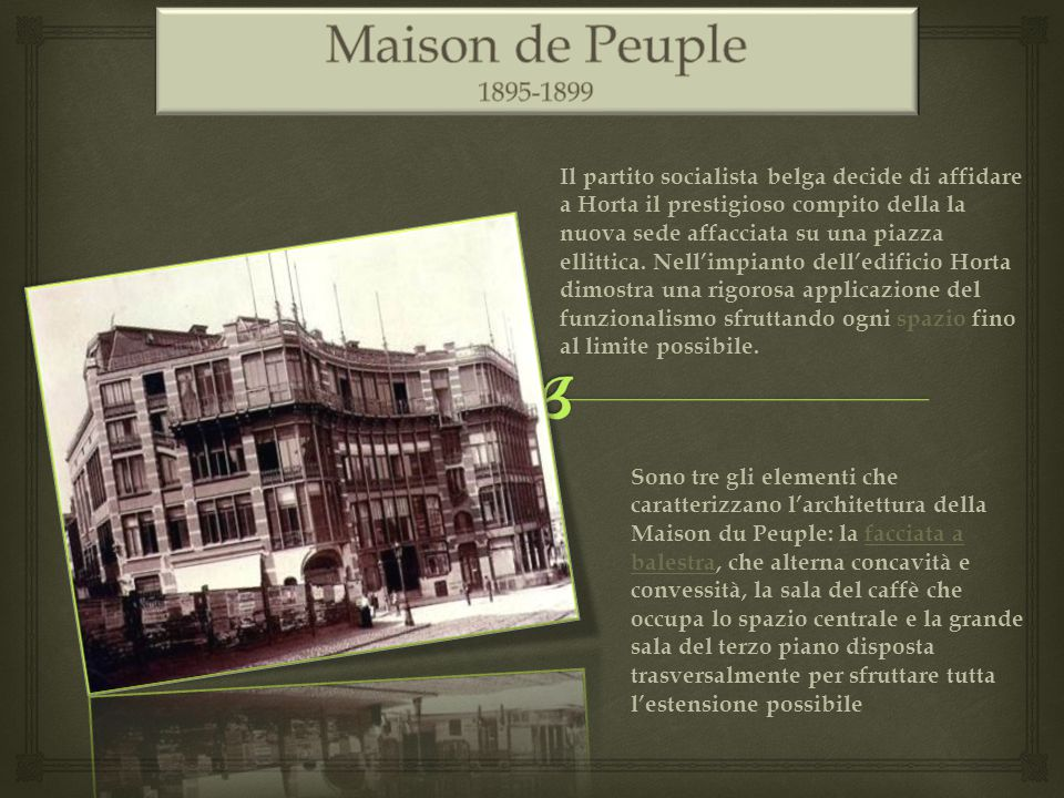 Maison de Peuple 1895-1899.