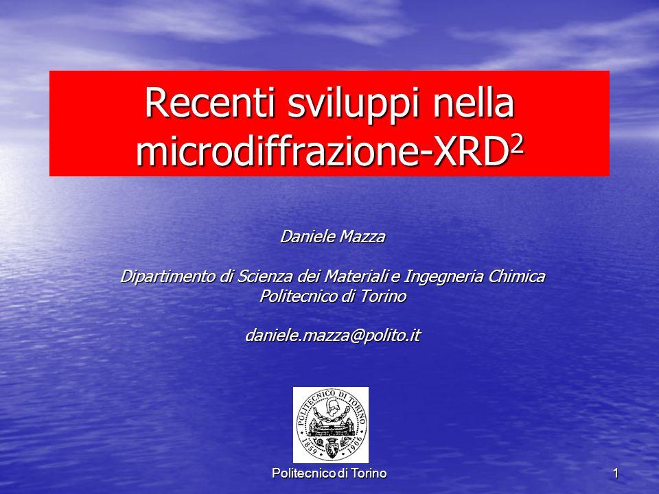 Recenti sviluppi nella microdiffrazione-XRD2