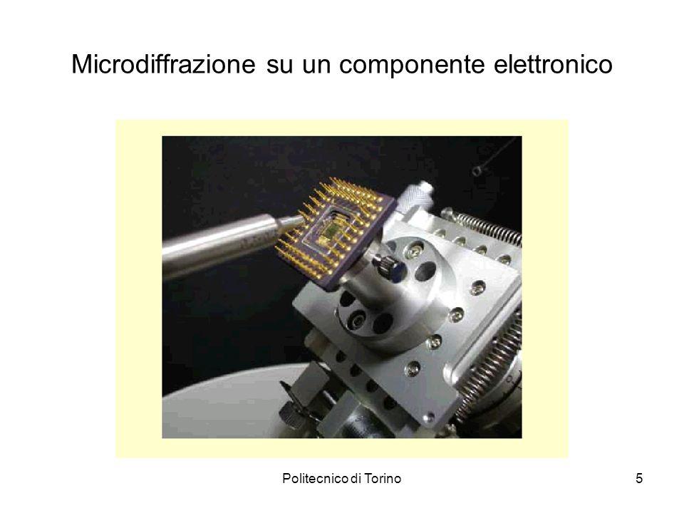 Microdiffrazione su un componente elettronico