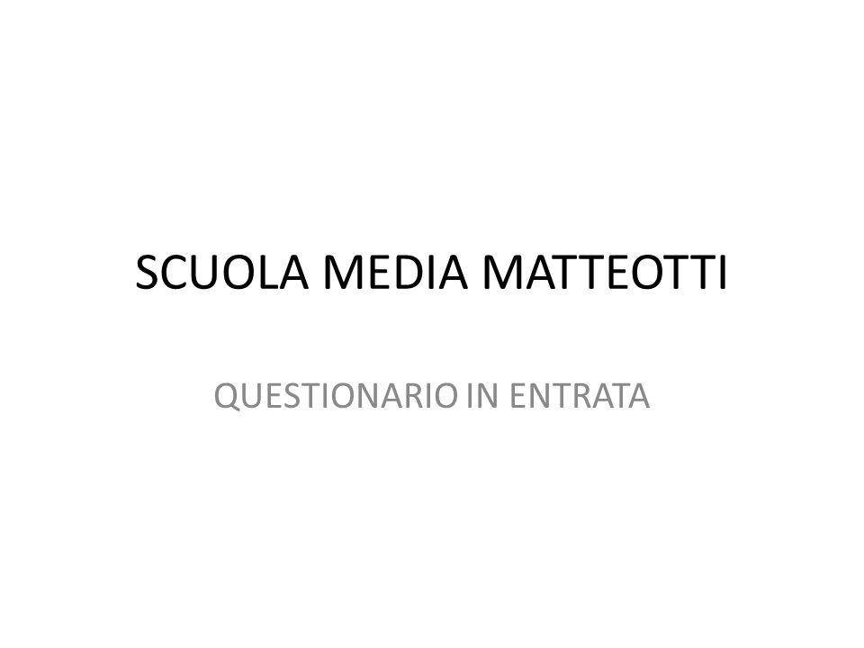 SCUOLA MEDIA MATTEOTTI
