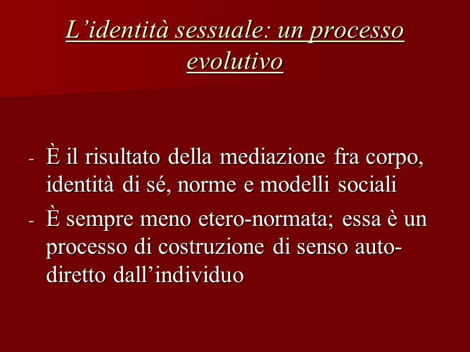 L'identità sessuale: un processo evolutivo