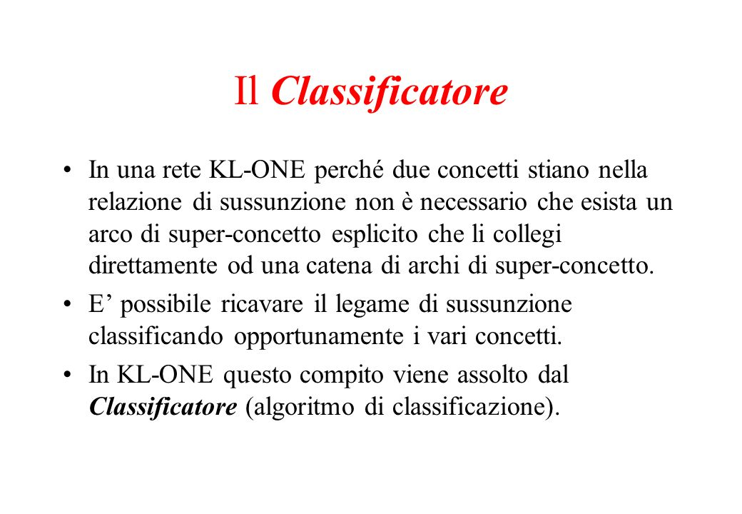 Il Classificatore