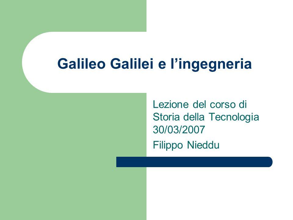Galileo Galilei e l'ingegneria