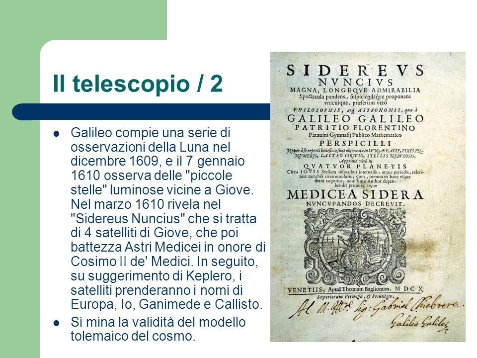 Il telescopio / 2