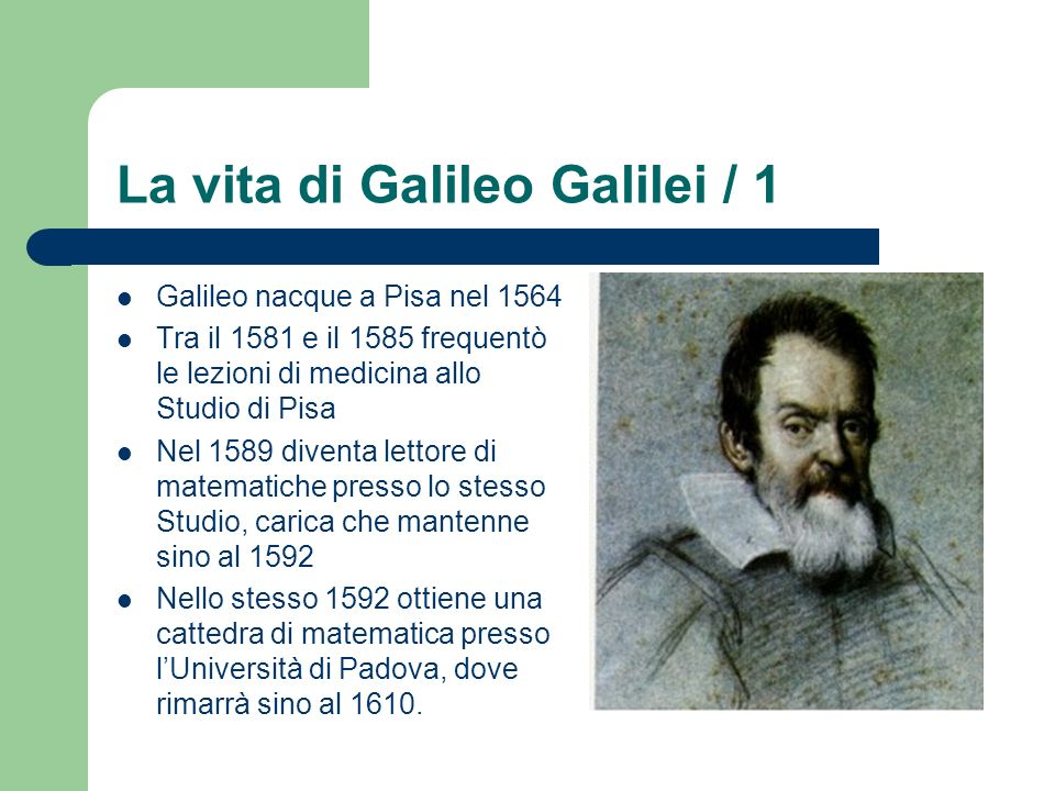 La vita di Galileo Galilei / 1