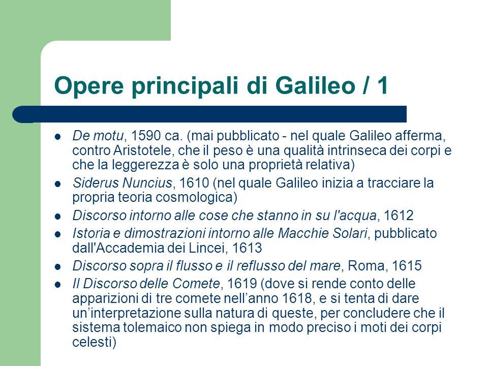 Opere principali di Galileo / 1